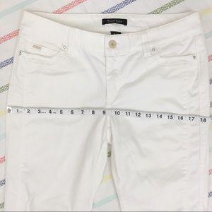 White House Black Market Pants - White House Black Market White Slim Ankle Pants